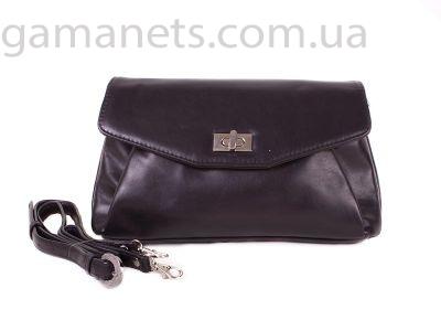 Женская кожаная сумка-клатч через